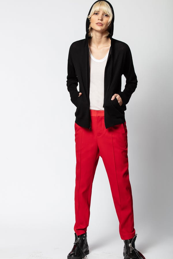 Sixtine Hooded Cashmere Sweater