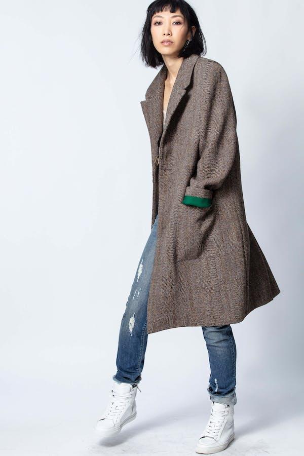 Macy Check Coat
