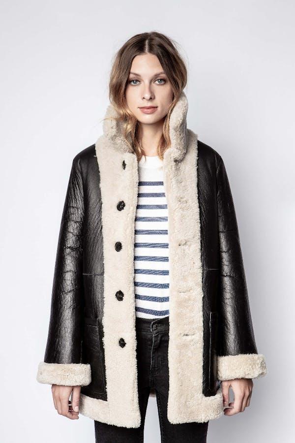 Magdas Reversible Shearling Coat