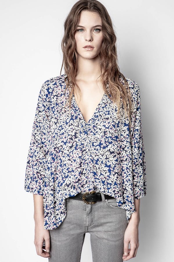 Tide Begonia Print Shirt