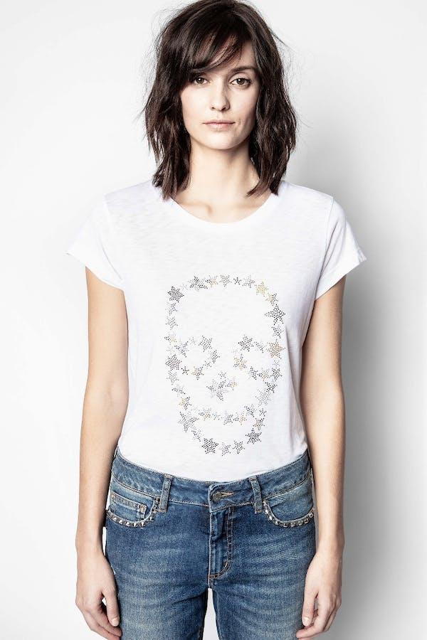 Skinny Skull Strass T-Shirt