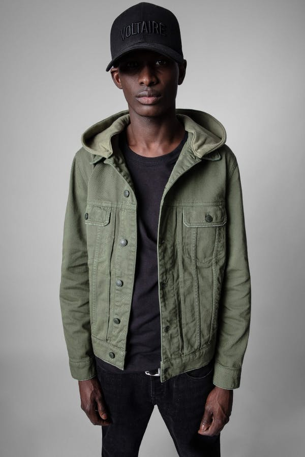 Base Denim Hooded Jacket