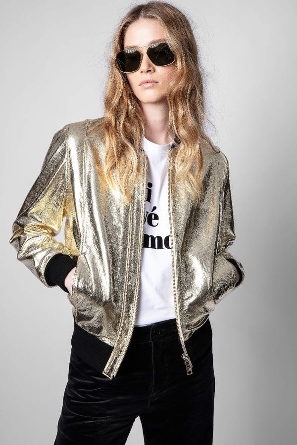 Larsona Gold Foil Jacket