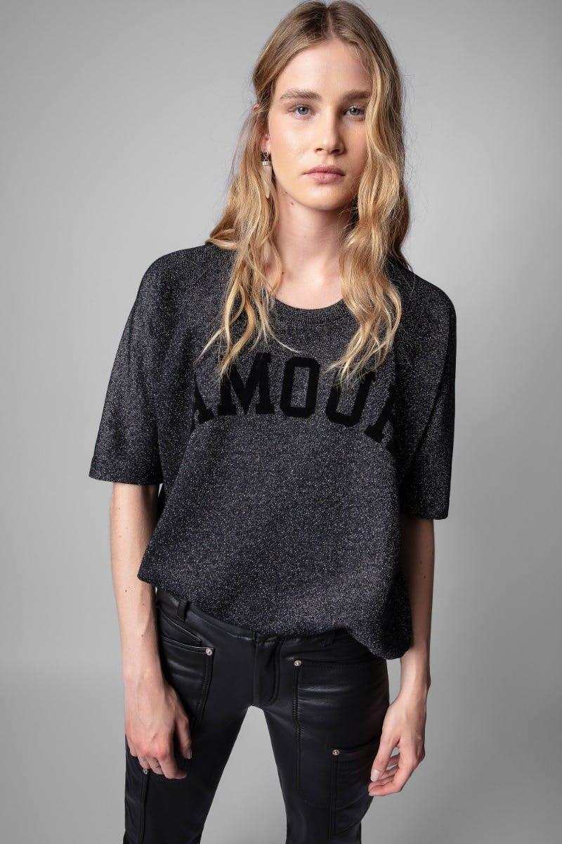 쟈딕앤볼테르 Zadig & Voltaire Portland Sweatshirt,BLACK