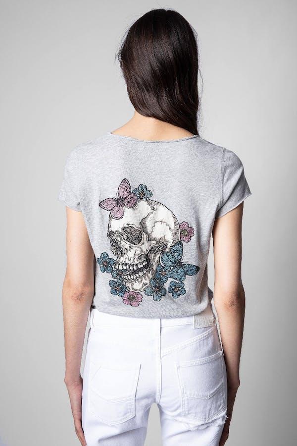Tunisien Skull Strass T-Shirt