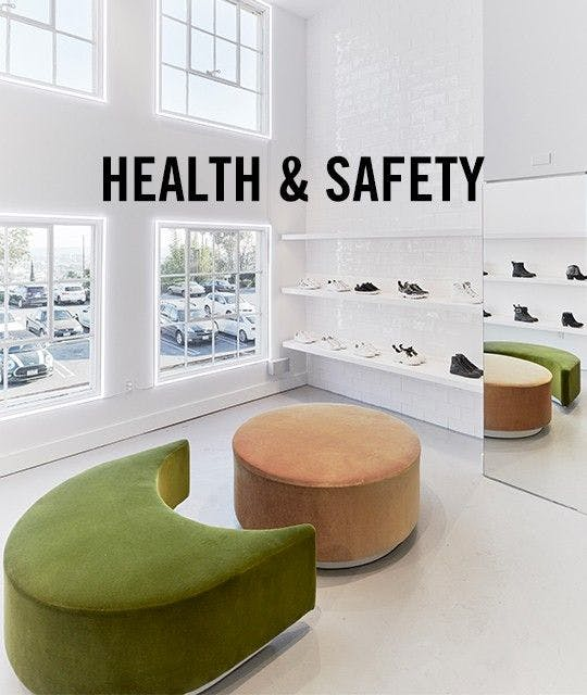 Health and safety section - store interior image