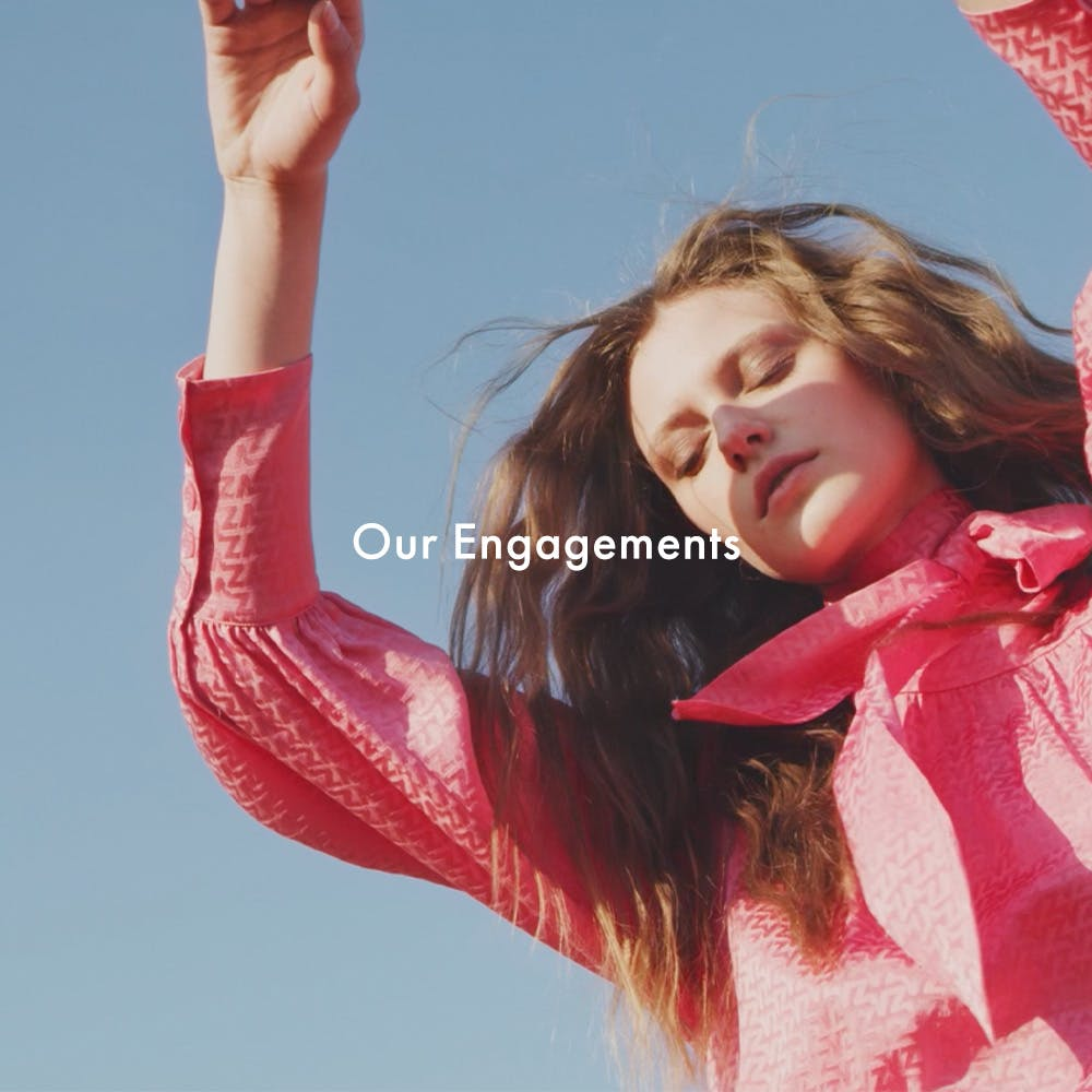 Voltaire program - our commitments - pink dress banner