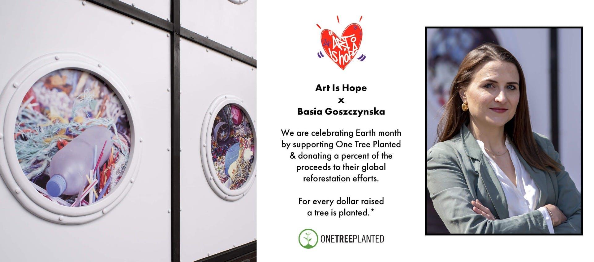 Art Is Hope Introducing Artist Basia Goszczynska Banner