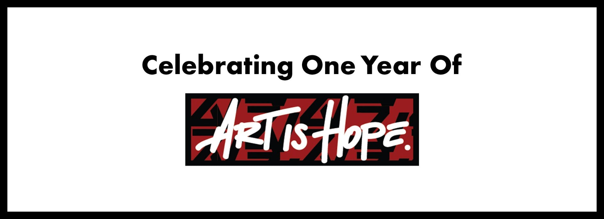 Art is hope banner image displaying the artist Daphne Arthur