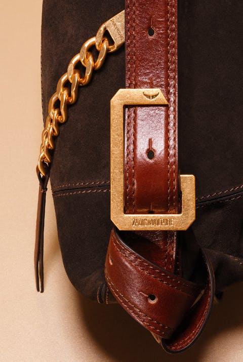 Le Cecilia black leather details