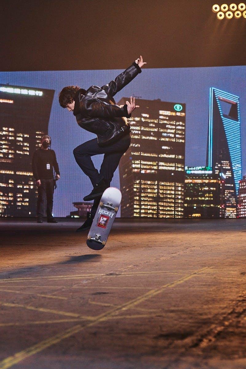 Runway Skateboard Shot